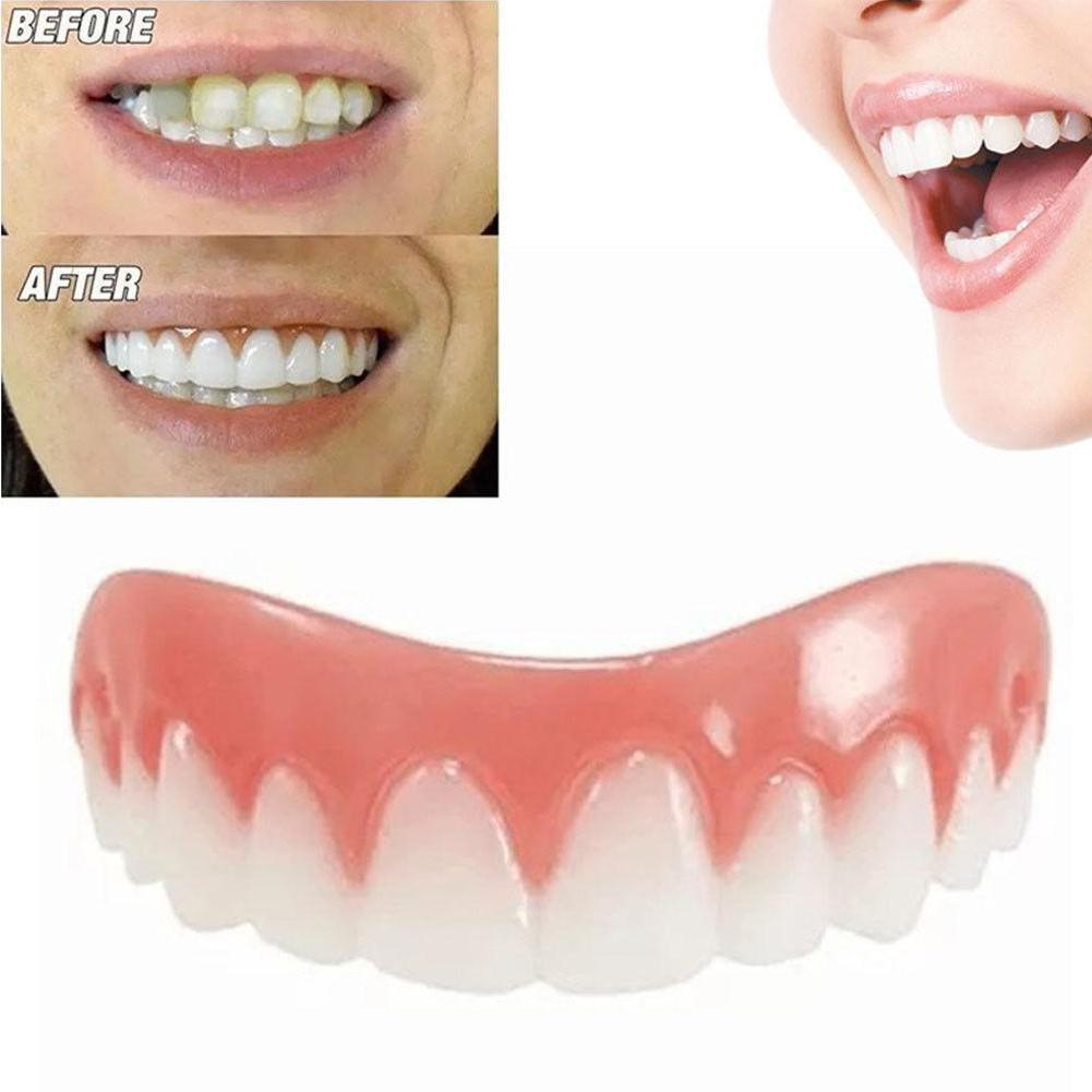 Instant Smile Comfort Fit Flex Plastic Emulates Teeth Whitening Dentures For Correction Of Teeth Oral Hygiene