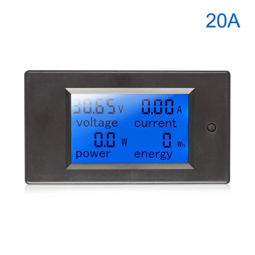 Digital Power Energy Meter DC Voltmeter Ammeter Wattmeter Khw Power Monitor With Shunt Voltage Current Tester Battery Tester|Voltage Meters| |  - title=