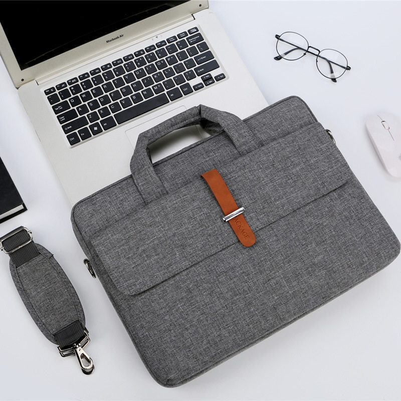 Business Handbag 14 15.6 17 Laptop Shoulder <font><b>Notebook</b></font> Bag For lenovo Macbook Air 13 <font><b>Case</b></font> 2019 Pro retina 13.3 15 <font><b>17.3</b></font> cover bags image