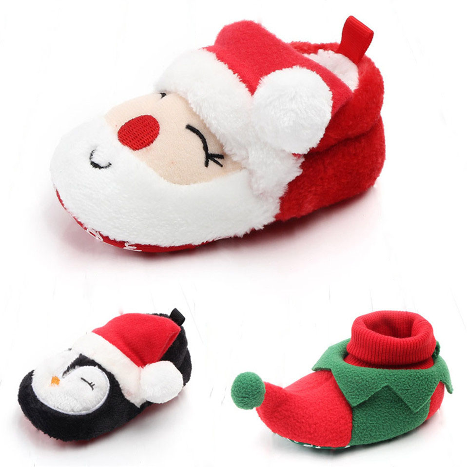 Winter Baby Girls Boys Keep Warm Shoes Bobcute Christmas First Walkers Anti-slip Newborn Toddler Infant Girl Footwear Shoes