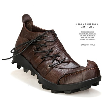 Individuality Men Casual Breathable Soft Handmade Leather Shoes Adult Driving Shoes Comfortable Men Outdoor Loafer Designer Shoe