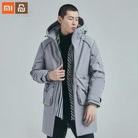 Xiaomi youpin down jacket life 남성 캐주얼 다운 재킷 90% white duck down 4 방수 겨울 롱 남성 다운 재킷 smart