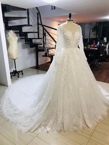 Image 2 - Alonlivn Gorgeous Deep V Neckline Of Chapel Train A Line Wedding Dresses Vestido De Noiva