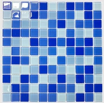 Ocean Blue Crystal Gl Mosaic Tile