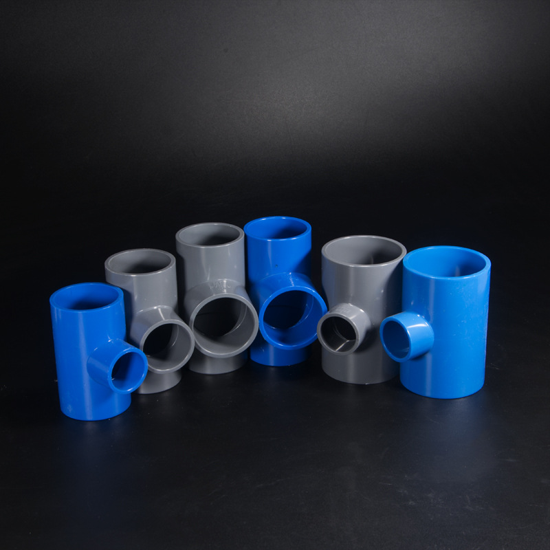 PVC Reducing T-connector Reducing Tee Joint Water Supply Pipe 20 25 32 40 50 63