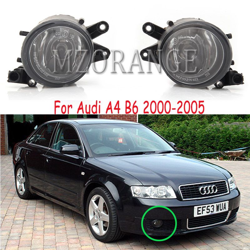 LED Fog Lights For Audi A4 B6 2001-2005 Fog Light Halogen Headlight Fog Lamp Headlights LED DRL Fog Lamps Foglights
