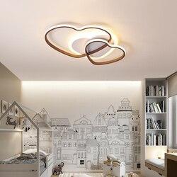Nowy nowoczesny żyrandol Led do sypialnia biały + brązowa rama nowoczesny żyrandol Lampara De domowe oświetlenie Led Fixtures110V 220V