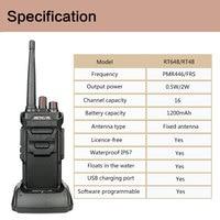 way רדיו ווקי RETEVIS RT48 / RT648 ווקי Talkie10pcs IP67 Waterproof Flaot PMR רדיו PMR446 / FRS VOX 2 Way רדיו מלון / מסעדה עבור Baofeng (5)