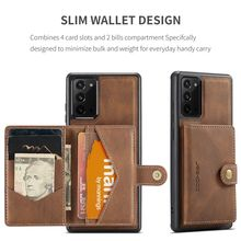 Genuine Leather & PU Case for Samsung Galaxy Note 8 9 10 Plus 20 Ultra Coque Built in Magnet Removable Back Cover Fundas