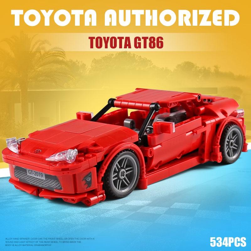 Genuine Authorization Technic Creator MOC Car Initial D Toyota Lepining AE86 Cartoon Motor Building Blocks Bricks Kids Toys