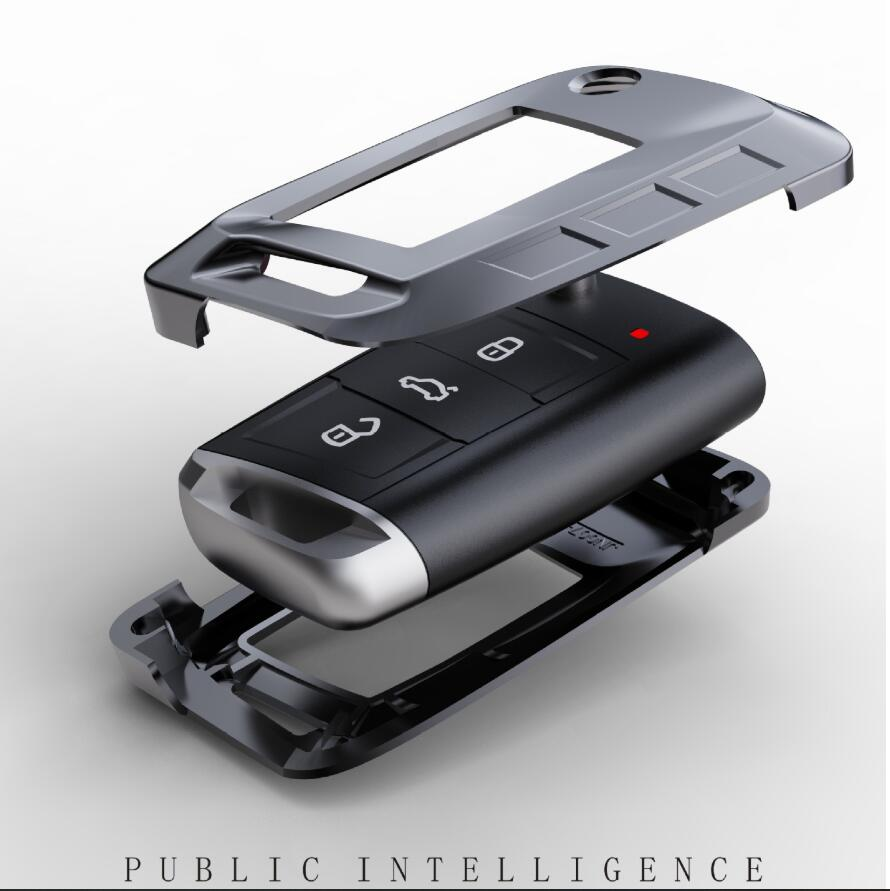 cheapest High Quality Mature Carbon Fiber Matte Car Key Case For Honda Hrv Civic 2017 Accord 2003-2007 Crv Freed Pilot car accessories