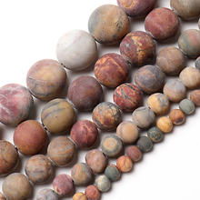 Wholesale 4mm 6mm 8mm 10mm 12mm Natural Stone Beads Dull Polish Matte Picasso Stone Round Loose Beads For Jewelry Making 15inche