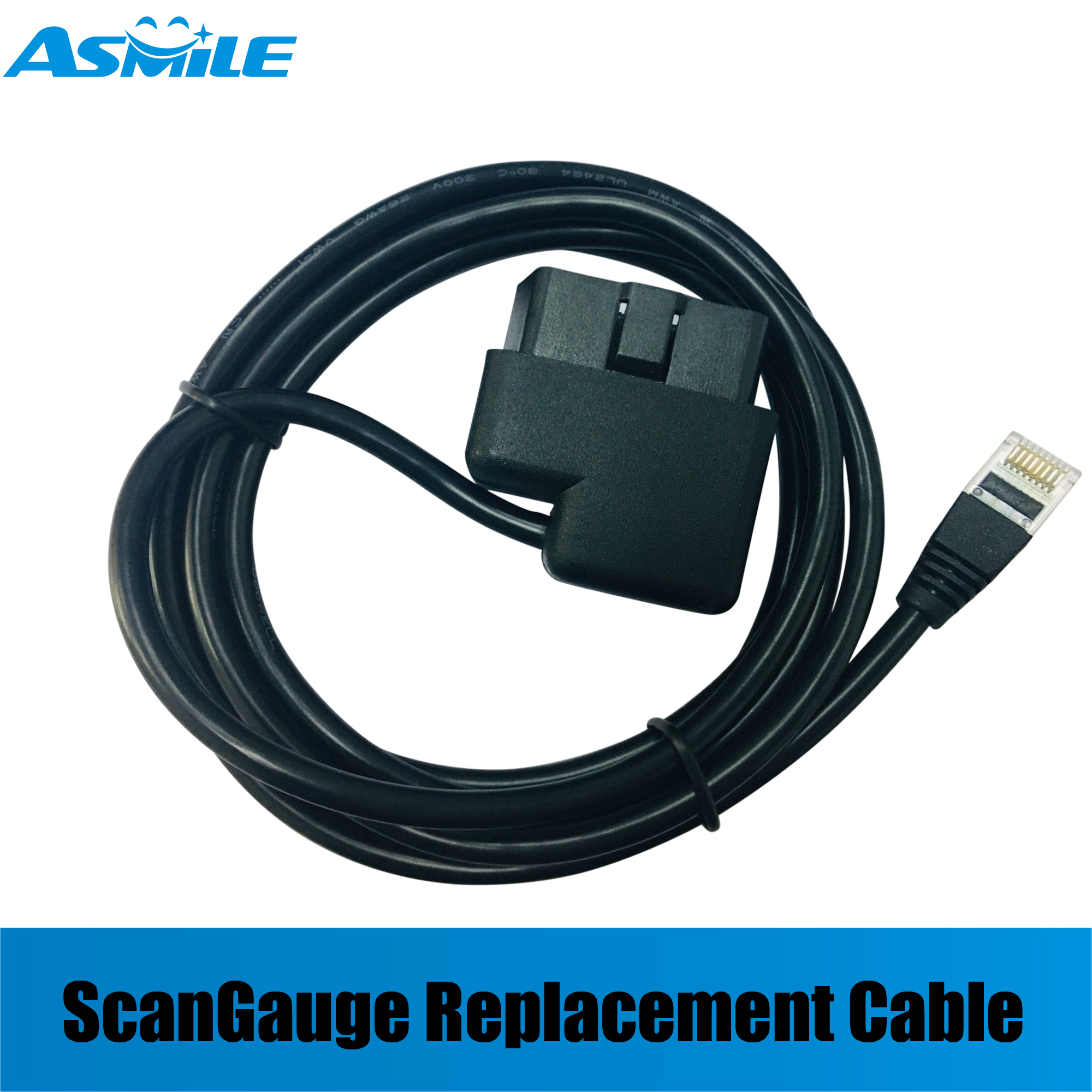 ScanGauge  II  Scan Gauge  OBD-II Replacement Cable Right Angle To OBD-RJ45 ,