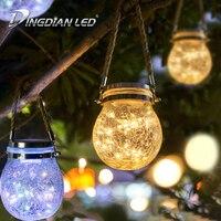 LED Cracked Bottle Lamp String Waterproof Solar Panel LED String Light Bulb Festival Atmosphere Decoration Fairy Light DC1.2V