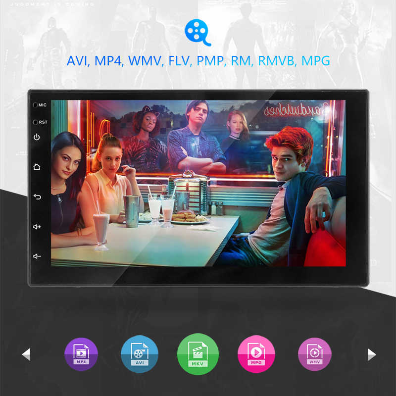 2 DIN Mobil Radio 7 Inci Touch Mirrorlink Android Player Subwoofer Autoradio Bluetooth Rear View Kamera Tape Recorder Carplay
