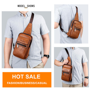 Image 4 - Celinv Koilm High Quality Men Chest Bags Split Leather Large Size Crossbody Bag Daypacks For Young Man Brand Sling Bags Unisex