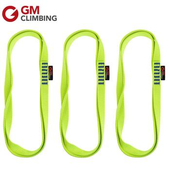 GM CLIMBING 3pcs 22kN Green Nylon Sling Webbing CE / UIAA 30cm / 60cm / 120cm Arborist Rappelling Mountaineering Equipment mool heng shuo rock climbing safety harness belt tree carving arborist rappelling fall arrest