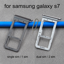 Tray-Holder Samsung Housing Sim-Card-Adapter Phone Micro-Sd-Card for Galaxy S7 G930 G930f/G930fd/G930a/..
