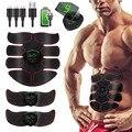 Тренажер для фитнеса Abs, тренажер для тренировок, стимулятор мышц живота с ЖК-дисплеем, зарядка USB, Электростимуляция для домашнего тренажер...
