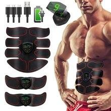 Estimulador abdominal ems, equipamento de treinamento fitness, com display lcd, recarregável, usb, para academia, casa