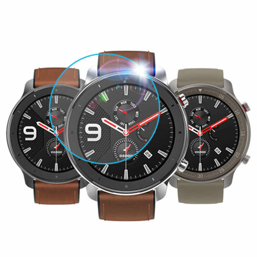 3PCS Hardness HD Clear Tempered Glass  Clear Film Tempered Glass Screen Protector for AMAZFIT GTR Smart Watch 47mm FW3