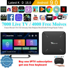 Android TV Box 9.0 TTV Box 2G 16G TX6 Mini Allwinner H6 Quad Core Dukungan USB 3.0 2.4G Wifi 3D 4K Penuh HD H.265 100M Ethernet(China)