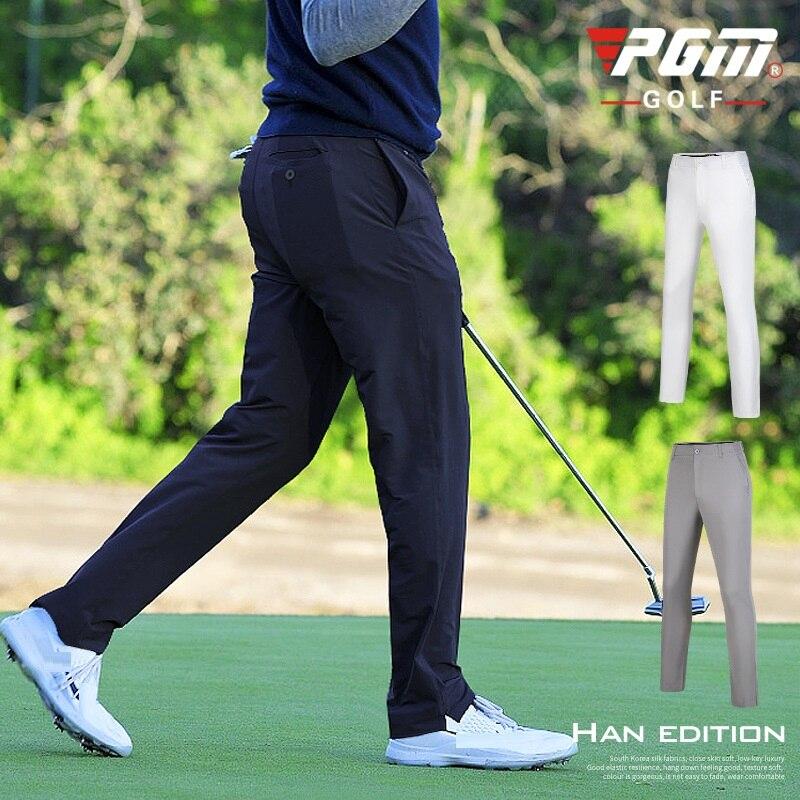 Calças de Golfe dos Homens de Alta Esportes ao ar Calças de Cintura Calças de Golfe Novo Outono Elasticidade Livre Elástica Respirável Confortável Pgm 2020