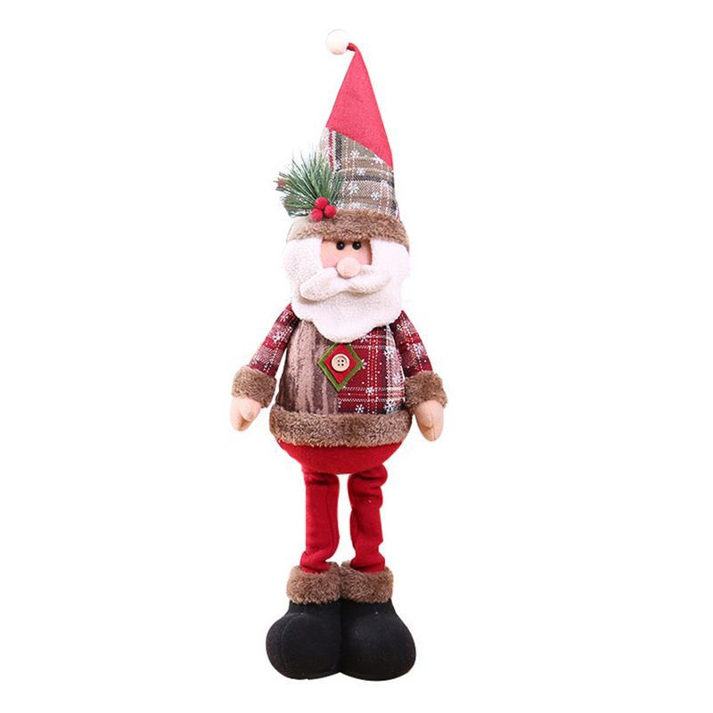 Хит, 30 стилей, рождественские украшения для дома, Рождественские куклы, елочные украшения, инновационная декорация с лосем, Сантой, снеговиком - Цвет: A 60x18cm