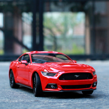 цена на Welly 1:24 2015 Ford Mustang GT alloy car model Diecasts & Toy Vehicles Collect gifts Non-remote control type transport toy