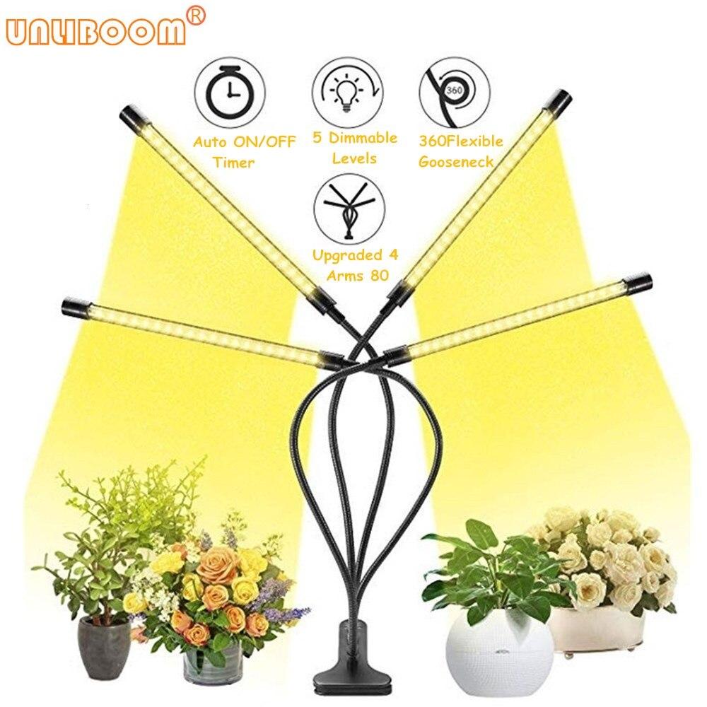 4 Head Full Spectrum Phytolamps DC5V USB LED Grow Light 40W Flexible Clip Phyto Lamp For Plants Flowers Grow Box EU US UK Plug