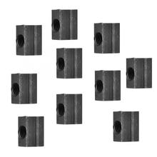 10pcs/set T-Slot Nut Black Oxide Grade 8.8 Carbon Steel T-Nut Tapped Through peng fa 35 steel t nut sleeve steel t type sliding nut milling working table fixing t bolts t slot nuts set t slots nut for t tr