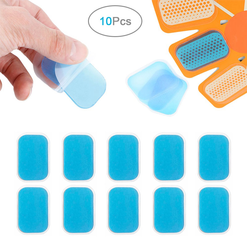 10Pcs Replacement Fitness Gel Stickers Hydrogel Electrode Pad/Patch For EMS Muscle Training Massager ABS Abdominal Trainer