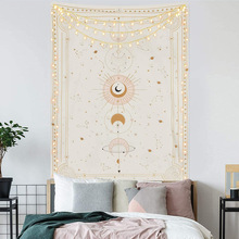 Astrology Sun Moon Tarot Tapestry Wall Hanging Witchcraft Supplies Bed Room Wall Decor Art Celestial Psychedelic Tapestry Fabric