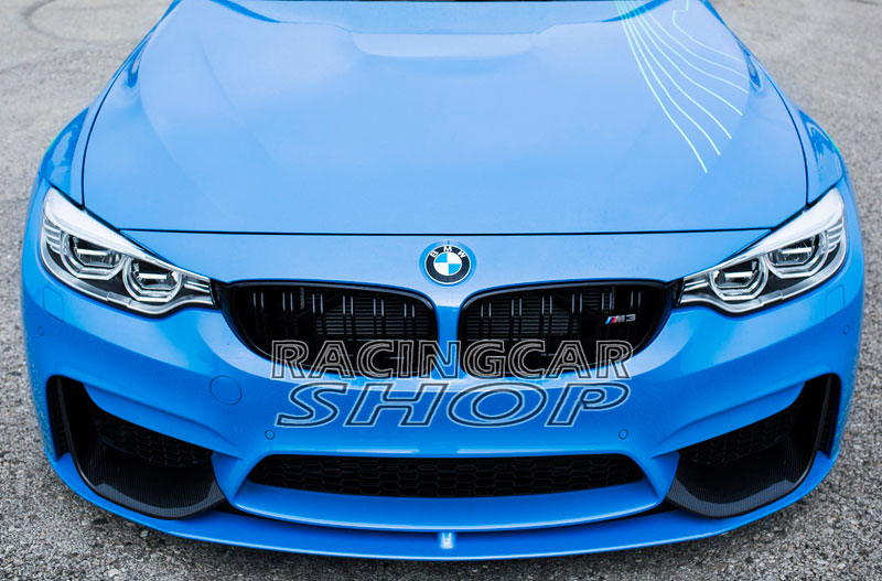 UNPAINTED M P Stye Front Splitter Spoiler For BMW F80 M3 F82 F83 M4 Front Bumper 2014UP B165F image