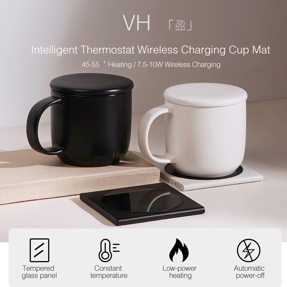Heater;Heat preservation device 55 degree heating automatic constant temperature cup ceramic mug Coffee milk intelligent heating cup heater