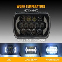 5x7 Projector 7x6 LED Headlight Bulb  Sealed Beam OffRoad Headlamp Light for Jeep Cherokee XJ Nissan Motorcycle ( Pack of 1pcs) 7x6 led headlight sealed dual beam headlamp replacement hid xenon h6014 h6052 h6054 for jeep wrangler jk yj cj xj