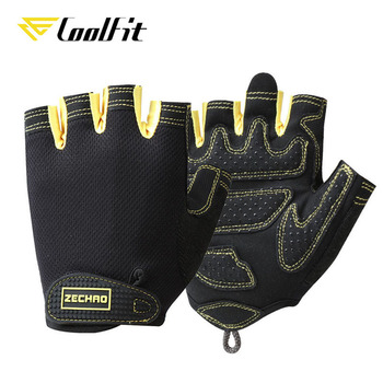 CoolFit Breathable Fitness Gloves Silicone Palm Hollow Back Gym Gloves Weightlifting Workout Dumbbell Crossfit Bodybuilding 3