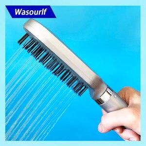 Image 1 - Wasourlf Cabezal de ducha Oxygenics, cabezal de ducha cuadrado presurizado, baño de ducha, cepillo de pelo de plástico ABS, boquilla de ducha de baño