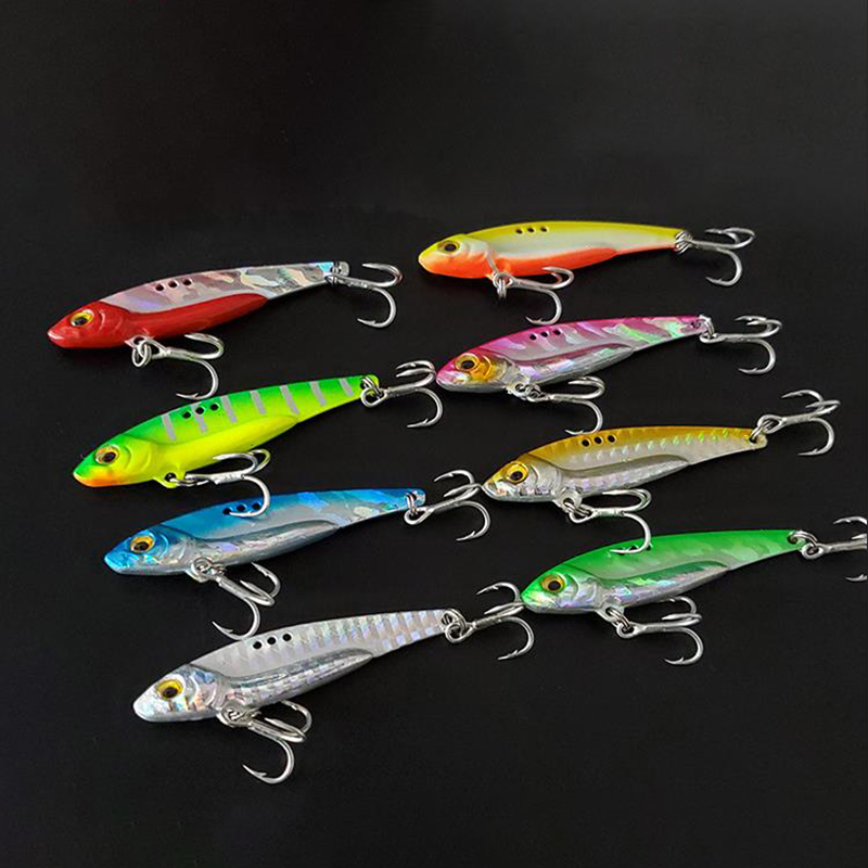 5/8/13/16/20g Metal Vib 3D Eyes Blade Lure Sinking Vibration Baits Artificial Vibe for Bass Pike Perch Fishing Hard Lure