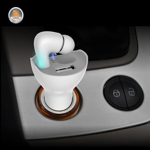 2 в 1 двойной USB 5A быстрое автомобильное зарядное устройство адаптер Bluetooth беспроводная гарнитура Hands Free микрофон ответ на вызов мини Usb Автом...