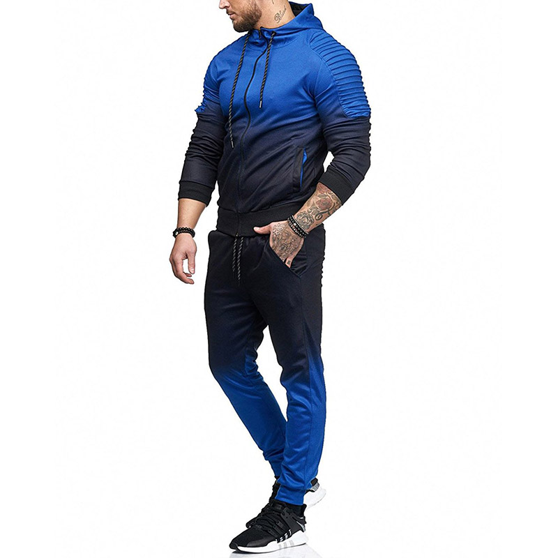 Sportswear Mens Tracksuits 2019 Set Casual Winter Warm Hooded Tracksuit Men Trendy Brand Jogger Hoodies For Men Sports Suits