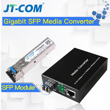 Buy 1pair=2pcs Gigabit SFP Fiber to RJ45 Optical Media Converter 1000Mbps Fibra Optica Switch Transceiver with Module SC/LC directly from merchant!