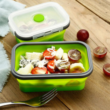 Lunch Box Eco-Friendly Silicone Bowl Foldable Portable Food Storage Container  FAS