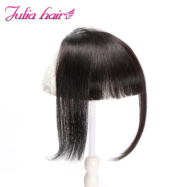 Ali Julia Air Bangs For Women Clip In Hair Extensions Brazilian Human Hair Bangs Remy Replacement Fringe Hairpiece (4)
