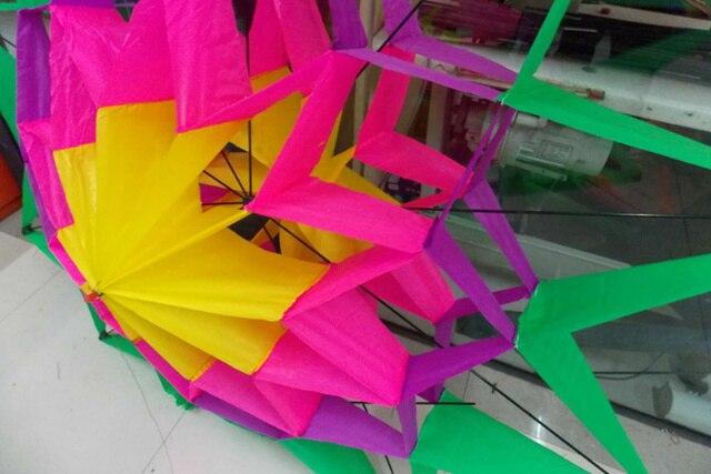 3D Lotus cerf-volant prune cerf-volant belle fleur couleur cerf-volant enfant cadeau adulte Sports de plein air amusant outil de vol avec ligne de cerf-volant enfants jouets