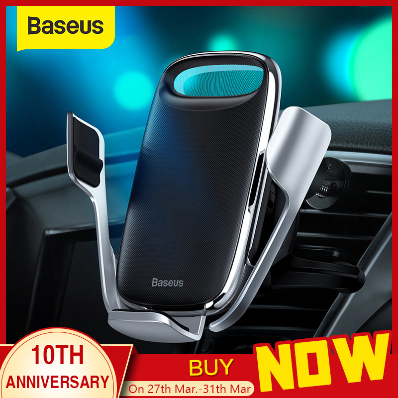 Baseus 15W Qi Wireless Car Charger Phone Holder For IPhone Samsung QC 3.0 Wireless Charging Air Vent Mount Mobile Holder Stand