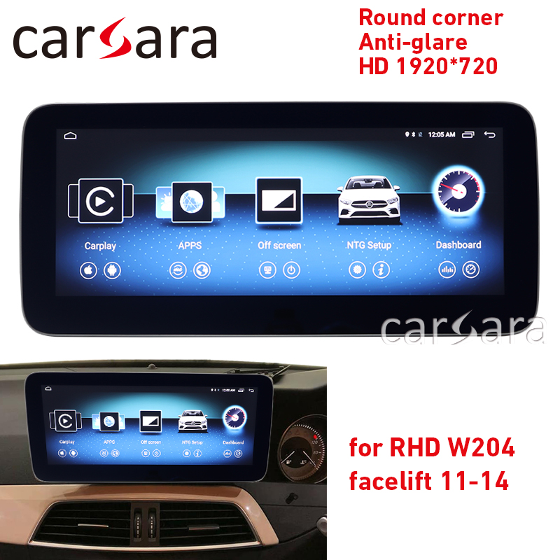 <font><b>W204</b></font> facelift <font><b>Android</b></font> tablet round corner HD 1920 anti-glare for <font><b>RHD</b></font> 10.25