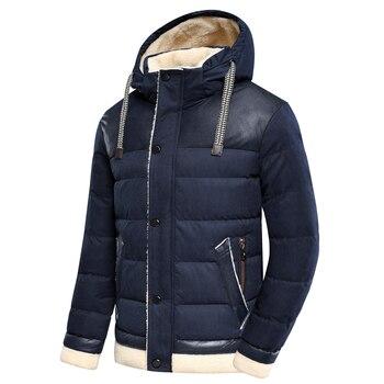 TFU Men 2020 Winter Autumn New Thick Warm Fleece Hooded Parkas Jacket Coat Men Outwear Style Casual Waterproof Parka Jackets Men