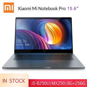 Xiaomi Mi Del Computer Portatile Pro da 15.6 pollici di Windows 10 1080P i5-8250U 8GB di RAM 256GB/512GB SSD gaming Notebook Tastiera Retroilluminata di Impronte Digitali