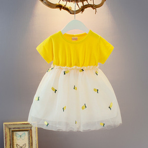 Summer Baby Dress Pineapple Baby Girls Princess Party Dress Cotton Infant Clothes